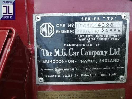 1954  TOTALLY RESTORED MG TF 1250  For Sale (picture 5 of 6)