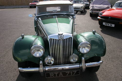 1954 MG TF UK car in metallic Almond green SOLD (picture 2 of 6)