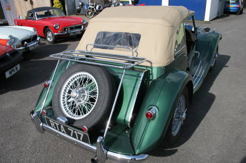1954 MG TF UK car in metallic Almond green SOLD (picture 3 of 6)