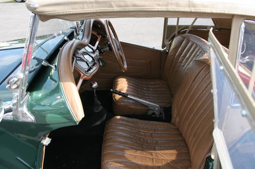 1954 MG TF UK car in metallic Almond green SOLD (picture 4 of 6)