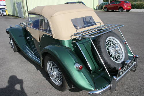 1954 MG TF UK car in metallic Almond green SOLD (picture 6 of 6)