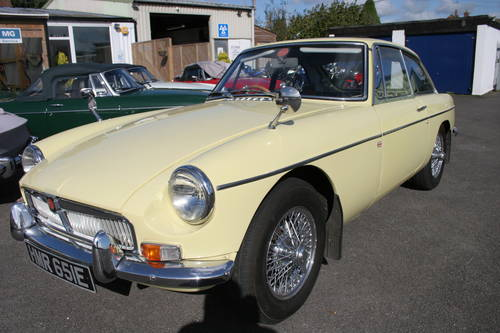 1967 MGB GT Mk1, Primrose with full sunroof SOLD (picture 1 of 5)