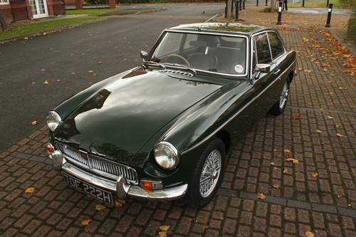 1970 MGB GT - British Racing Green, Wire Wheels SOLD (picture 1 of 6)