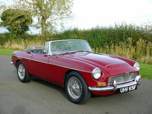 1968 MGC Roadster Manual with Overdrive SOLD (picture 3 of 6)
