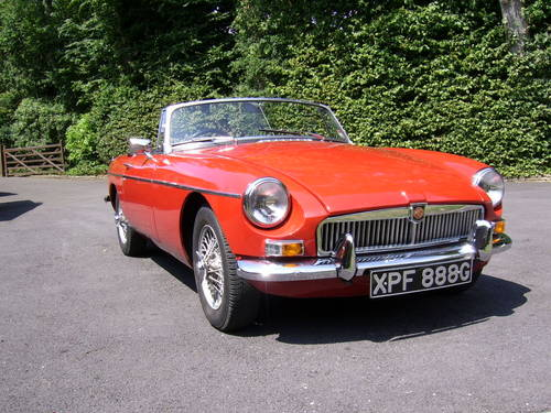 1969 MGB Roadster for sale in Hampshire... SOLD (picture 1 of 6)