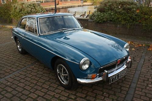 1972 MGB GT - Teal Blue, restored - drive away! SOLD (picture 1 of 6)