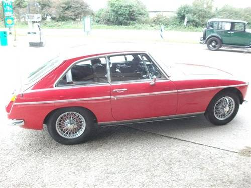 1970 MGB GT, Flame Red, Wires, Chrome bumpers & overdrive! SOLD (picture 5 of 6)