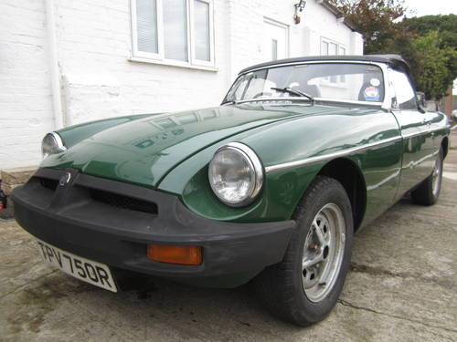1977 MGB ROADSTER * DRY STORED MANY YEARS ~ SOLID MGB * SOLD (picture 1 of 6)
