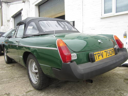 1977 MGB ROADSTER * DRY STORED MANY YEARS ~ SOLID MGB * SOLD (picture 2 of 6)
