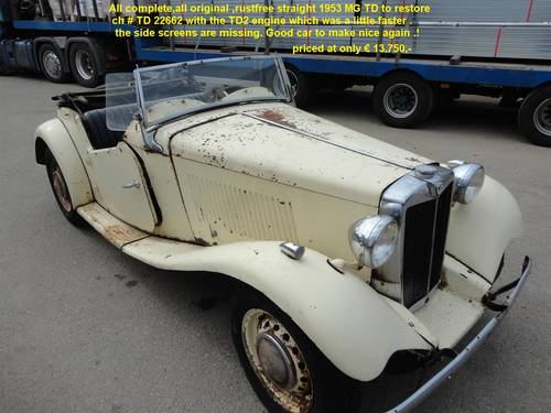 1953 MG TD black for sale For Sale (picture 5 of 6)
