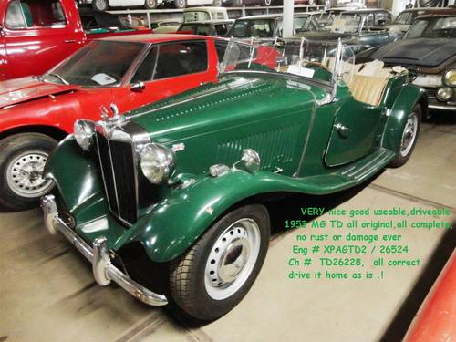 1953 MG TD black for sale For Sale (picture 6 of 6)