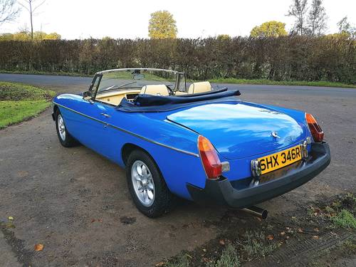 1976 MGB Roadster - Pageant Blue SOLD (picture 5 of 6)