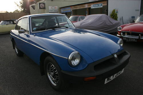 1976 FACTORY MGB GT V8 in Tahiti blue, Previous concours winner. SOLD (picture 1 of 4)