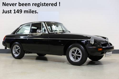 1980  Never been registered with just 149 miles a unique MG B GT. SOLD (picture 1 of 6)