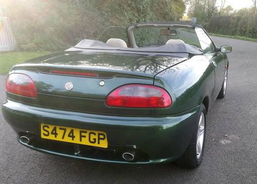 1999 MG MGF VVC BRG full beige leather trim, very low miles SOLD (picture 3 of 6)
