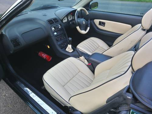1999 MG MGF VVC BRG full beige leather trim, very low miles SOLD (picture 6 of 6)