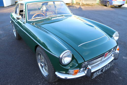 1969 MGC GT , British racing green SOLD (picture 1 of 6)