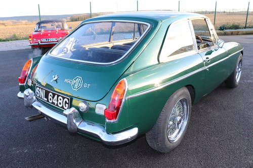 1969 MGC GT , British racing green SOLD (picture 5 of 6)