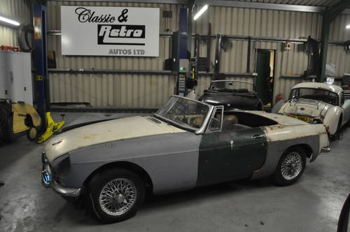 1964 MG MGB ROADSTER TAX EXEMPT ORIGINAL PULL HANDLE SOLD (picture 1 of 6)