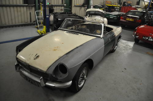 1964 MG MGB ROADSTER TAX EXEMPT ORIGINAL PULL HANDLE SOLD (picture 2 of 6)