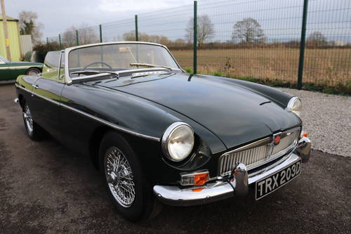 1966 MGB Roadster in dark racing green, show standard paintwork. SOLD (picture 1 of 5)