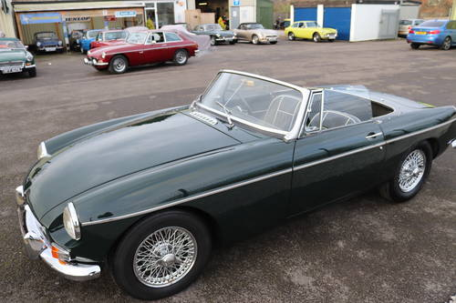1966 MGB Roadster in dark racing green, show standard paintwork. SOLD (picture 5 of 5)