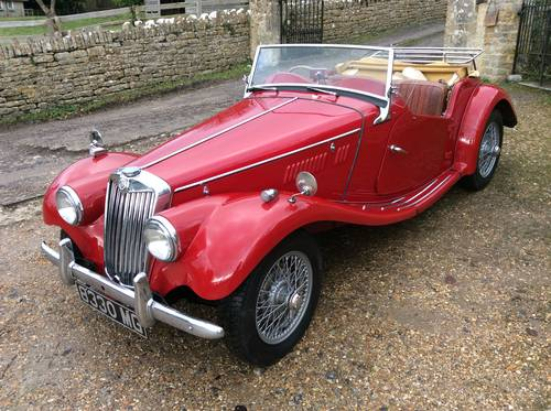 MG TF 1954 in Red with MG Registration number SOLD (picture 1 of 6)