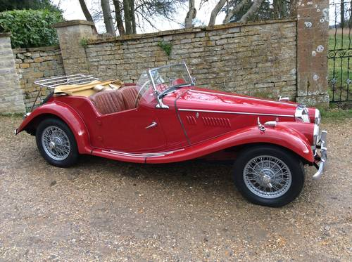 MG TF 1954 in Red with MG Registration number SOLD (picture 2 of 6)