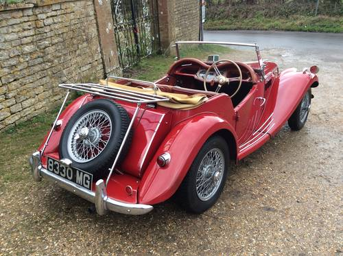 MG TF 1954 in Red with MG Registration number SOLD (picture 3 of 6)