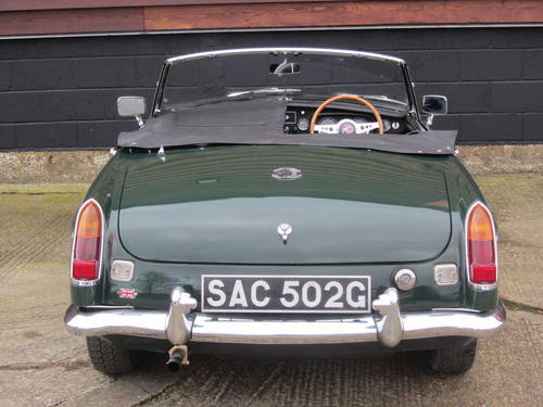 1968 MG B Roadster with overdrive For Sale SOLD (picture 6 of 6)