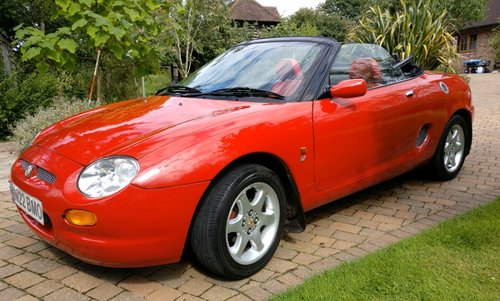 1995 Iconic Red MGF 1.8 VVC hire: Driver Experience Gift Vouchers For Sale (picture 1 of 6)