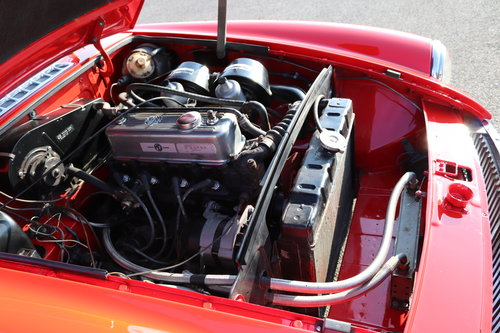 1973 MGB Roadster in flame red, show standard repaint.  SOLD (picture 2 of 6)