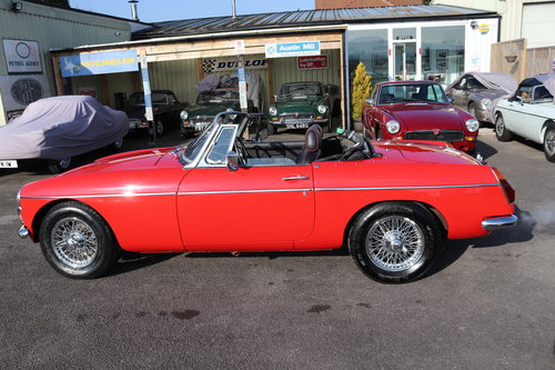 1973 MGB Roadster in flame red, show standard repaint.  SOLD (picture 5 of 6)
