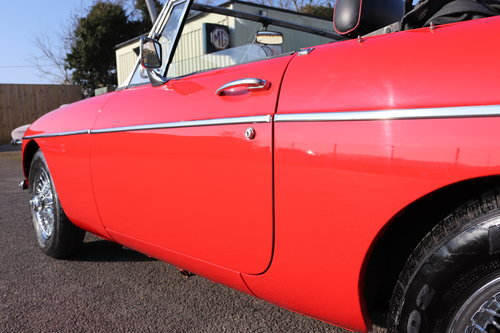 1973 MGB Roadster in flame red, show standard repaint.  SOLD (picture 6 of 6)