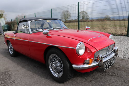 1970 MGC Roadster, tartan red, bare shell rebuild,UK car. SOLD (picture 1 of 6)