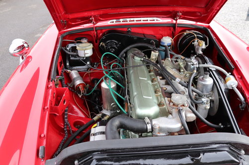1970 MGC Roadster, tartan red, bare shell rebuild,UK car. SOLD (picture 4 of 6)