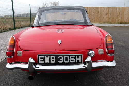 1970 MGC Roadster, tartan red, bare shell rebuild,UK car. SOLD (picture 5 of 6)