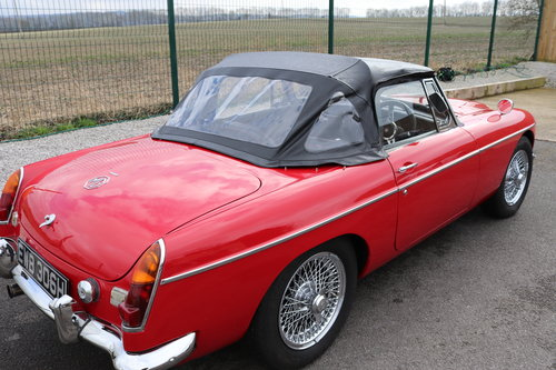 1970 MGC Roadster, tartan red, bare shell rebuild,UK car. SOLD (picture 6 of 6)