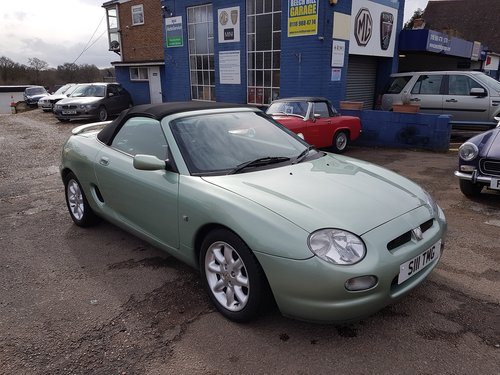 2001 MGF 1.8 Alumina green very low mileage, excellent SOLD (picture 1 of 6)