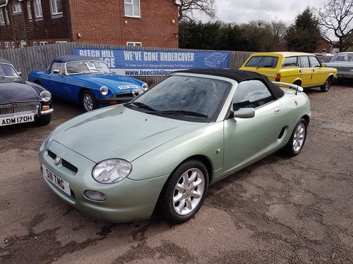 2001 MGF 1.8 Alumina green very low mileage, excellent SOLD (picture 3 of 6)