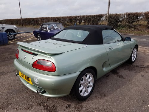 2001 MGF 1.8 Alumina green very low mileage, excellent SOLD (picture 6 of 6)