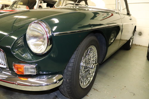 1966 MGB in dark racing green with chrome wires SOLD (picture 2 of 5)