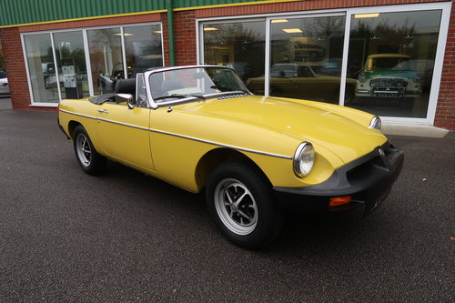 1992 MG MGB 1.8 Roadtser 78 miles only Snapdragon Yellow SOLD (picture 1 of 6)