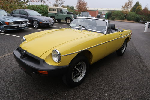 1992 MG MGB 1.8 Roadtser 78 miles only Snapdragon Yellow SOLD (picture 2 of 6)