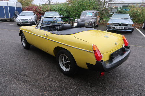 1992 MG MGB 1.8 Roadtser 78 miles only Snapdragon Yellow SOLD (picture 4 of 6)