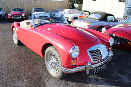 1960 MGA 1600 MK1,UK car in chariot red SOLD (picture 1 of 6)