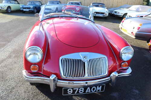 1960 MGA 1600 MK1,UK car in chariot red SOLD (picture 6 of 6)
