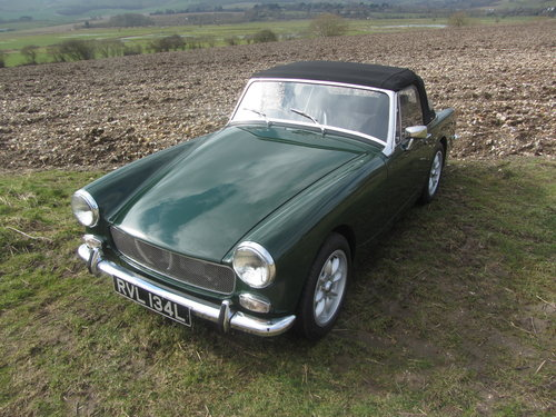 1972 MG Midget 1380cc 5 speed Heritage shell For Sale SOLD (picture 1 of 6)