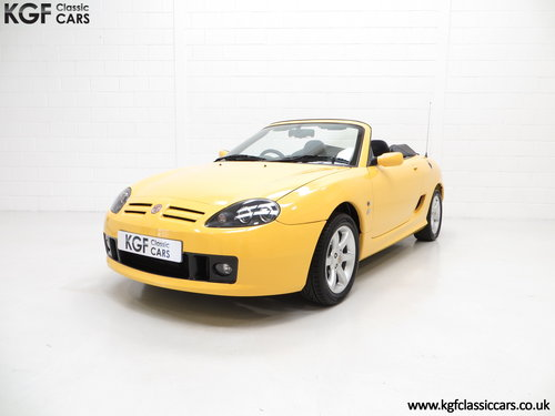 2002 An Exceptional Trophy Yellow MG TF 135, Just 20,339 Miles SOLD (picture 2 of 6)