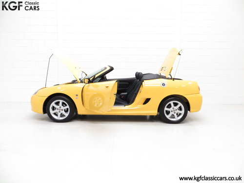 2002 An Exceptional Trophy Yellow MG TF 135, Just 20,339 Miles SOLD (picture 3 of 6)